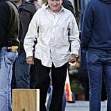Robin Williams headed to the set of The Angriest Man in Brooklyn on Wednesday in LA.