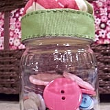 Baby Food Jar as Pincushion