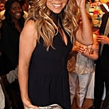 Mariah Carey enjoyed her time at the Project Canvas Exhibition & Art Gala in NYC.