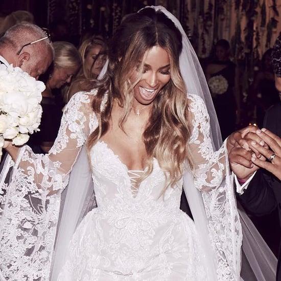 Ciara's Cavalli Couture Wedding Dress