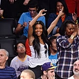 She cheered for Dwyane Wade on Christmas Day.