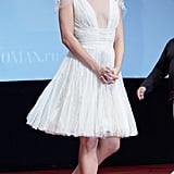 Mila Kunis looked lovely in Moscow.