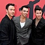 Kevin Jonas, Joe Jonas, and Nick Jonas at the 2019 MTV VMAs