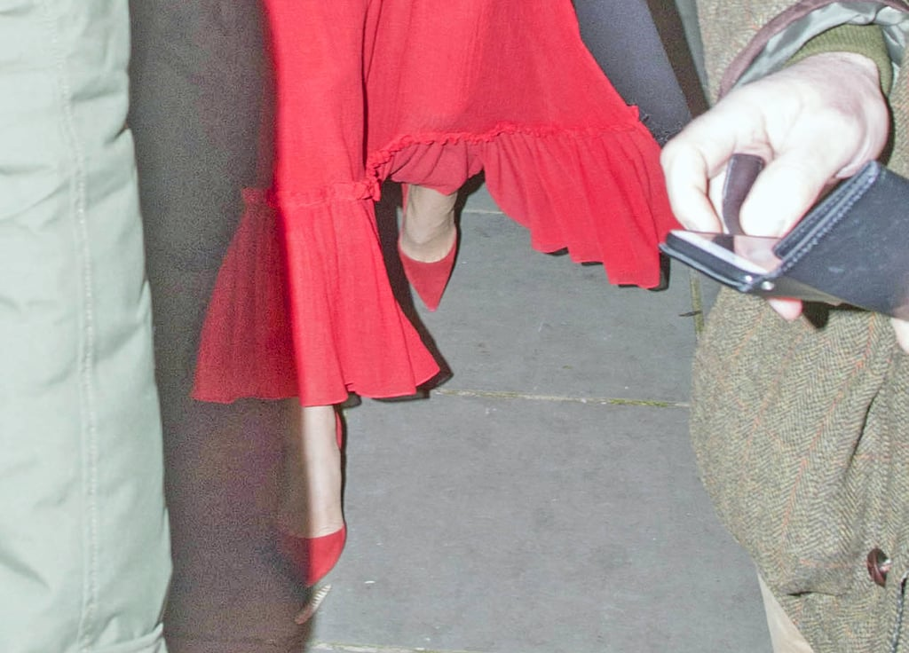 Kate Wore a Pair of Red Pumps