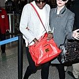 Lupita Nyong'o at LAX Airport