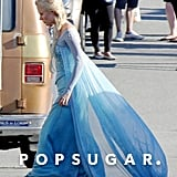 Elsa (Georgina Haig) appeared on set on Wednesday.