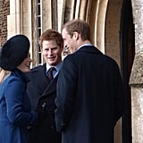 Zara Tindall, Prince Harry, and Prince William
