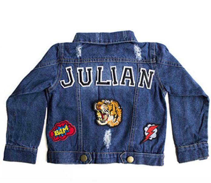 Customizable Denim Patch Jacket