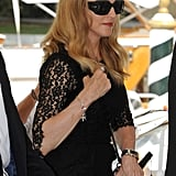 Madonna wears lace in Venice.