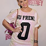 """Katy Perry wore a shirt that read """"Nu Frend."""""""