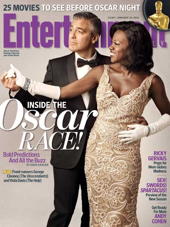 George Clooney and Viola Davis on the cover of Entertainment Weekly.