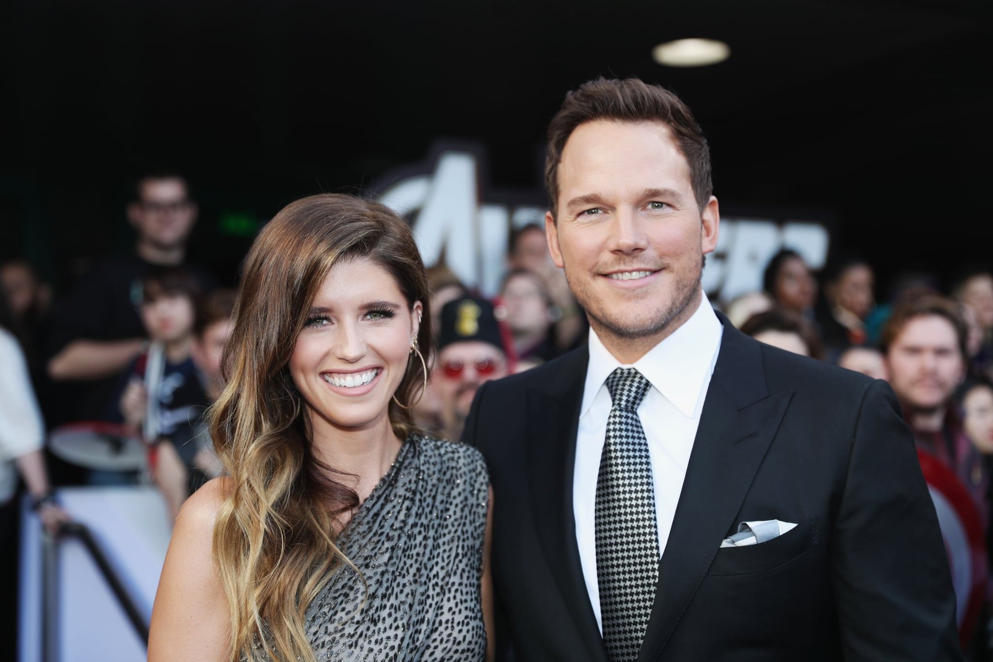 LOS ANGELES, CA - APRIL 22:  (L-R) Katherine Schwarzenegger and Chris Pratt attend the Los Angeles World Premiere of Marvel Studios'