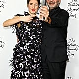 Shailene Woodley and Remo Ruffini at the British Fashion Awards 2019 in London