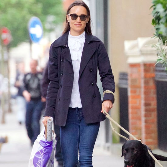 Pippa Middleton White High-Neck Shirt