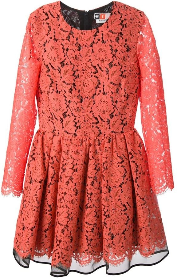 MSGM Floral Embroidered Lace Dress