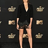 When She Wore a Tuxedo Dress to the 2017 MTV Movie Awards