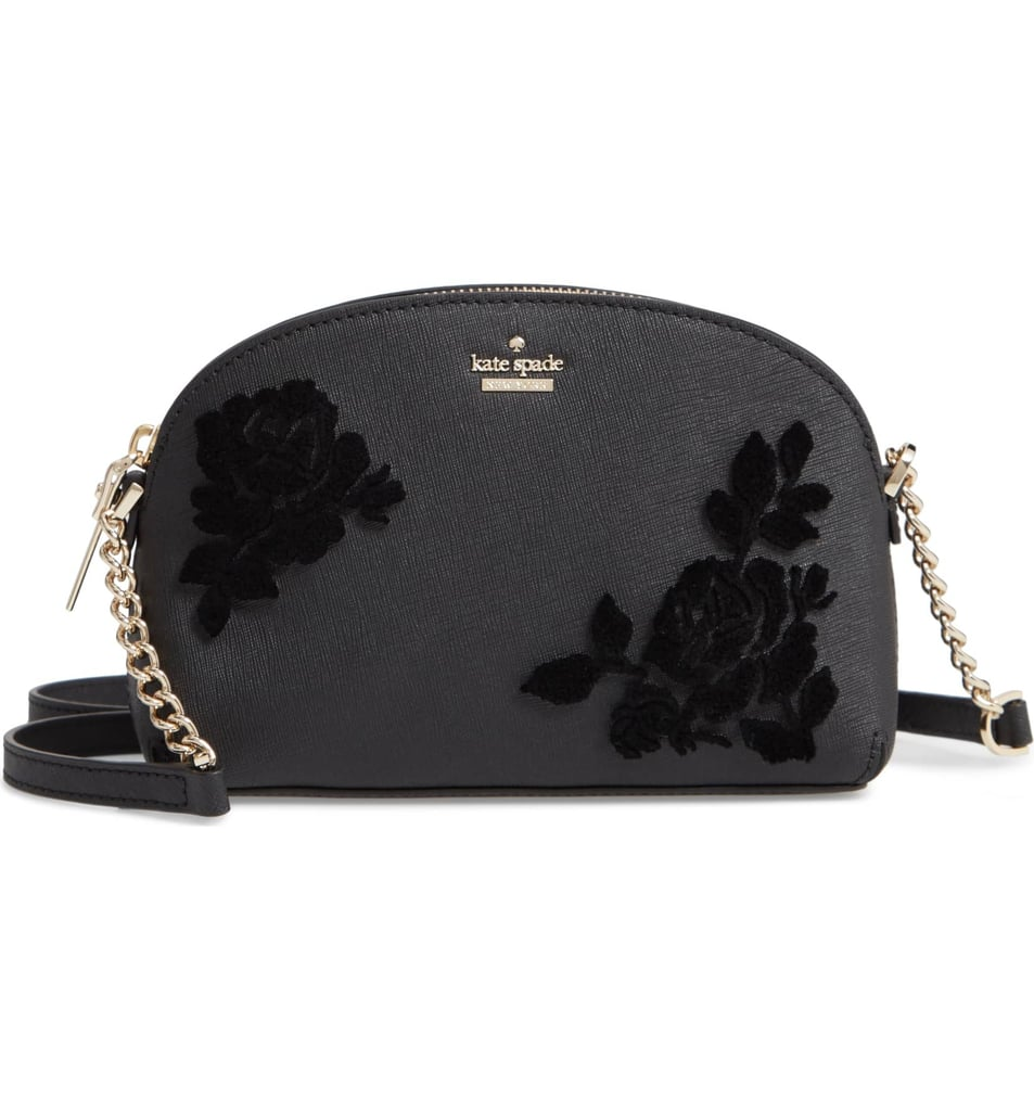 Kate Spade New York Cameron Street Hilli Flocked Roses Leather Crossbody Bag