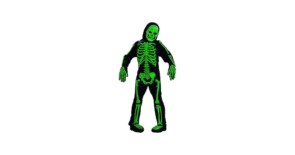 Scary Green Bones Skeleton Scary Halloween Costumes For Kids