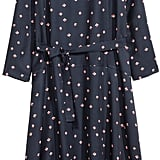 H&M Lyocell-Blend Dress Dark Blue/Patterned  ($60)