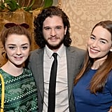 Kit and Emilia posed for a picture with costar Maisie Williams in 2014.
