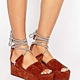 Whistles Molino Rope Suede Wedge Sandal