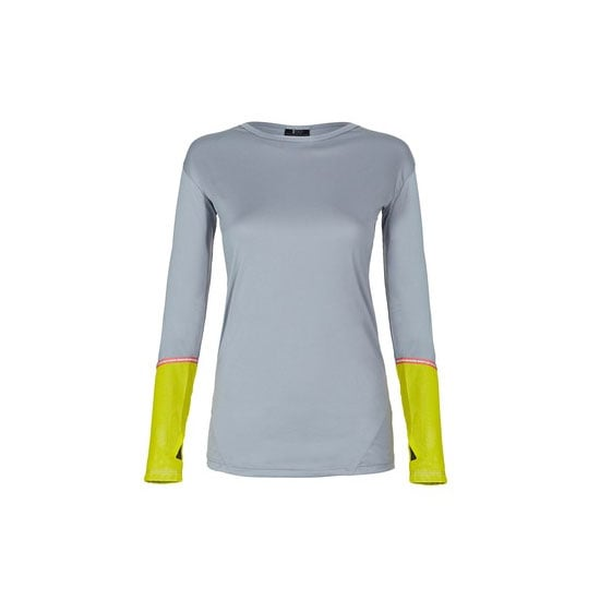 Please, please don't just throw on an old hoodie or washed-out tee for an early morning run. Pick a purpose-built long-sleeved tee and you'll be more comfortable and look at least 358% better. Thumb holes value-add as they keep your wrists covered when it's chilly. Top, $90, Split59 at Stylerunner
