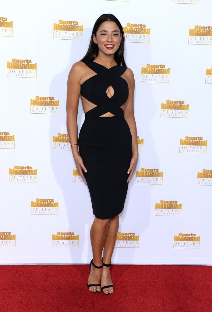 Jessica Gomes wore a stunning cut-out dress.