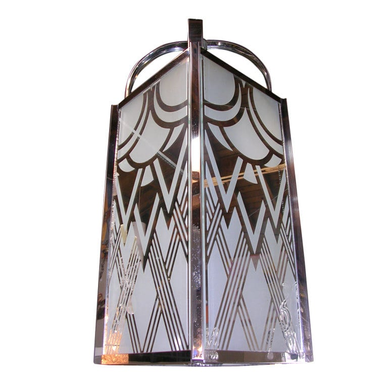 The Vintage Acid Etched Art Deco Pendant ($3,200) was made in France in the '30s.
