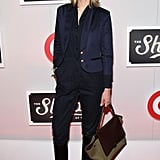 Leelee Sobieski caught our eye in an awesome Adam Kimmel menswear ensemble at The Shops at Target launch party.