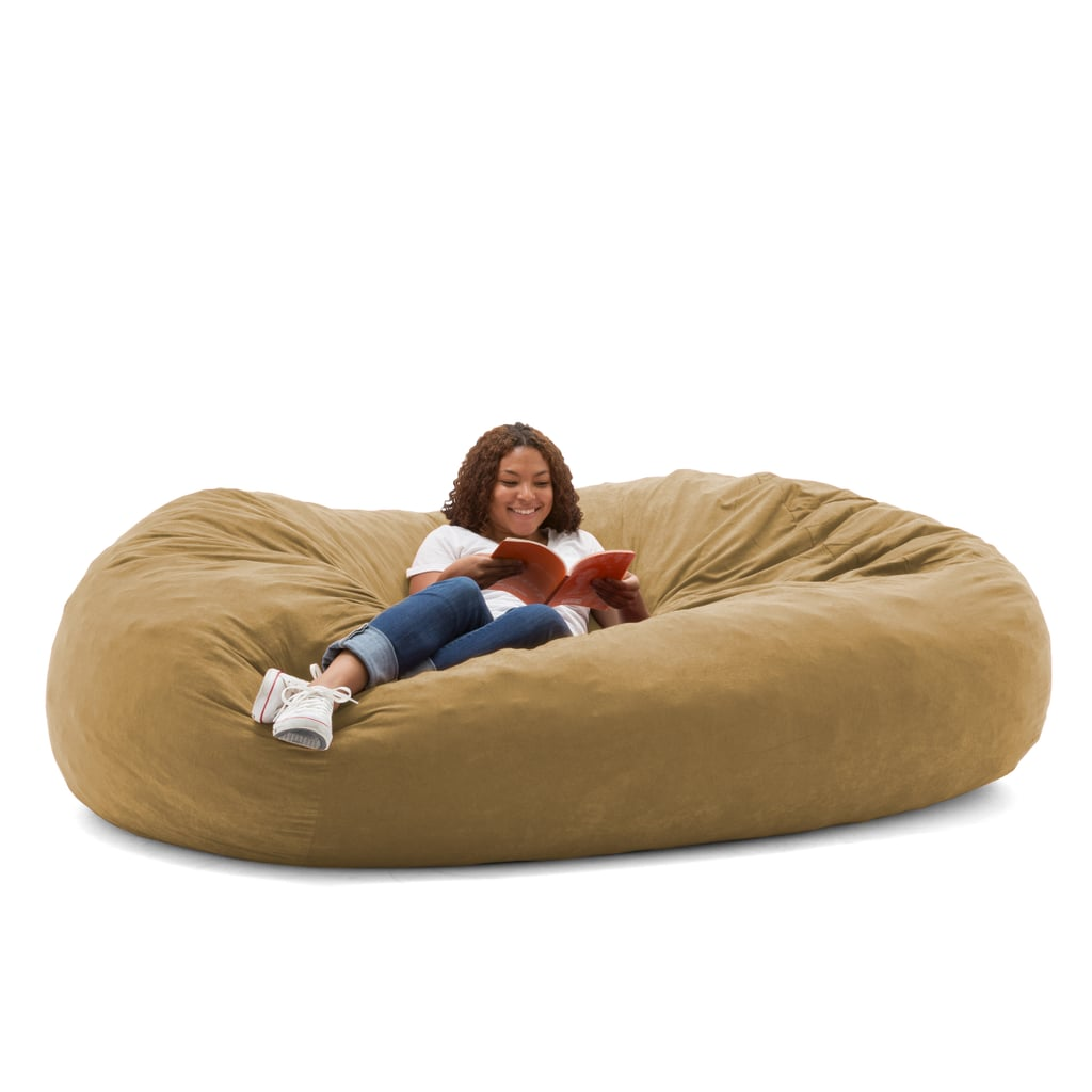 The Beanbag Is Ideal For Cozy Reading Sessions . . .