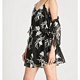 Alice + Olivia Holden Cold-Shoulder Chiffon Dress