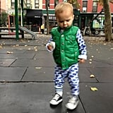 Selma Blair sent warm thoughts to those in Hurricane Sandy's wake, sharing a picture of Arthur on an NYC playground. Source: Twitter user SelmaBlair