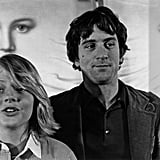 Robert De Niro and a young Jodie Foster promoted Taxi Driver in 1976.