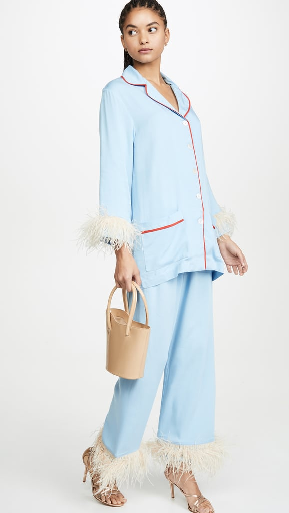 Sleeper Blue PJ Set With Feathers