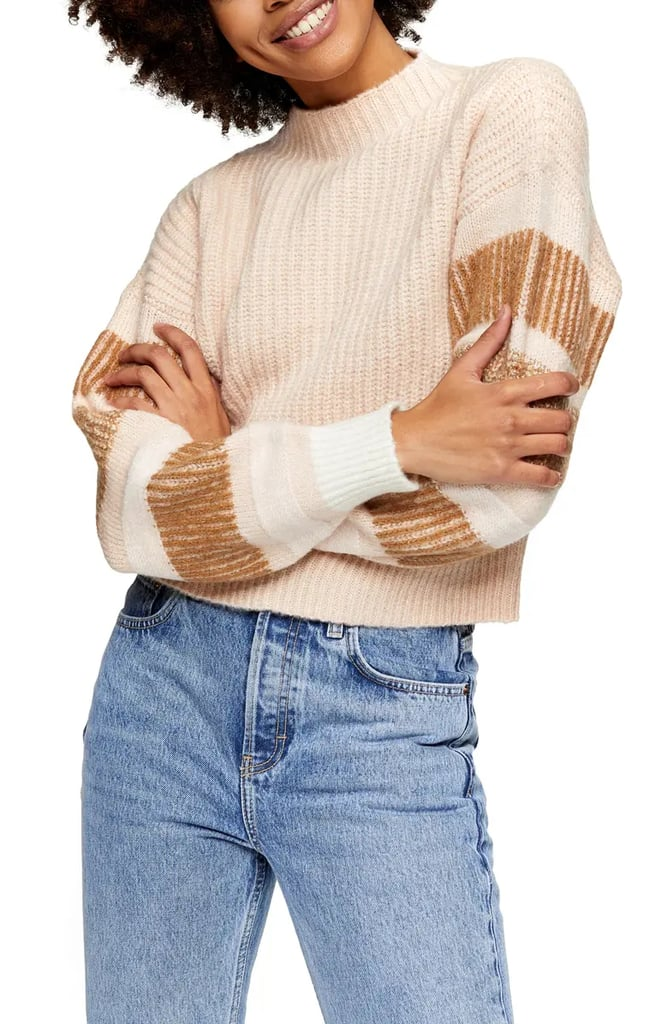 Topshop Stripe Crewneck Sweater