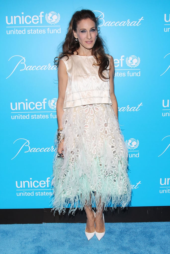 Sarah Jessica Parker at the 2011 UNICEF Snowflake ball in NYC.