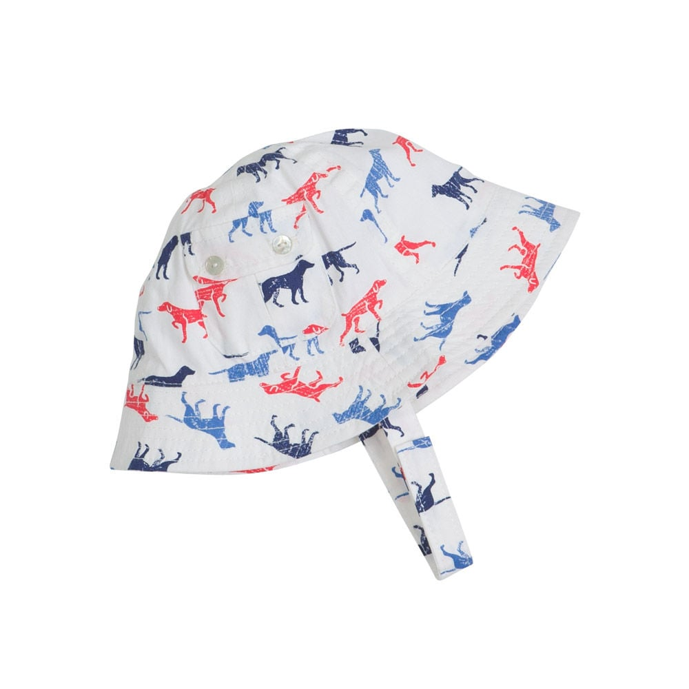 Canine-loving kids will appreciate basking in the sun in Egg by Susan Lazar's Cotton Shirting Dog Print Hat ($22-$26), complete with a chin strap to keep it secure.