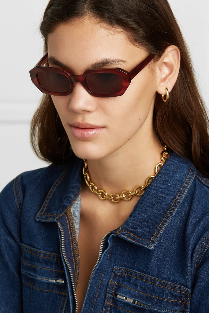 a9aab9c440f66 Le Specs La Dolce Vita Octagon Frame Tortoiseshell Acetate Sunglasses