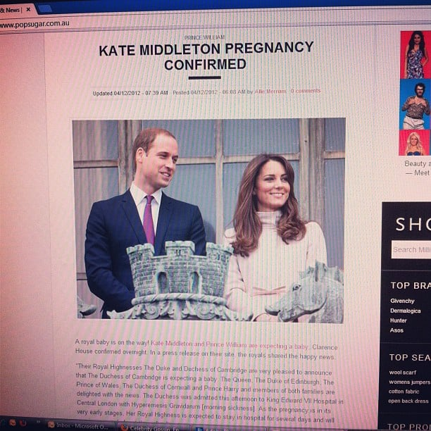 We won't describe how excited we were re: Kate & Wills' news, but we will say this: we may have gone overboard.