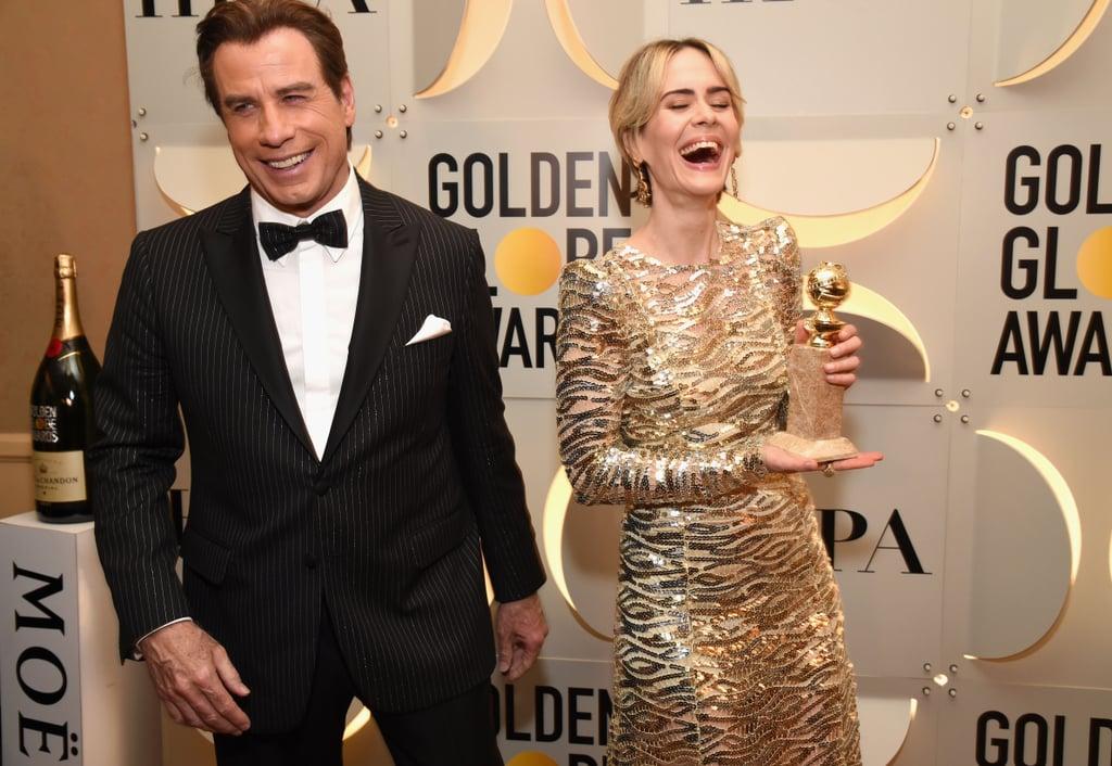 Pictured: John Travolta and Sarah Paulson