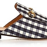 Gucci Princetown gingham backless loafers ($595)