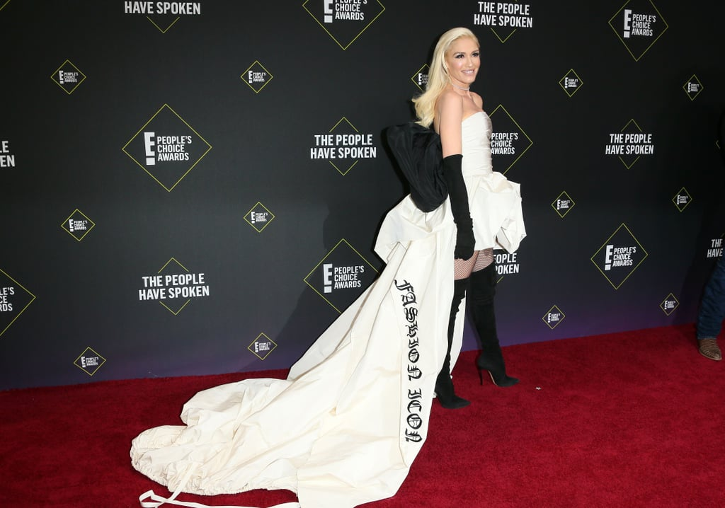 "Gwen Stefani's White Vera Wang Dress Says ""Fashion Icon"""