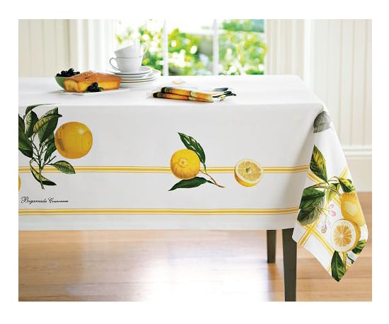 Merveilleux Botanical Lemon Tablecloth