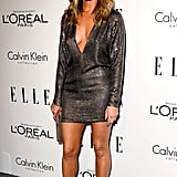 Jennifer Aniston walked the red carpet solo at an event for Elle.