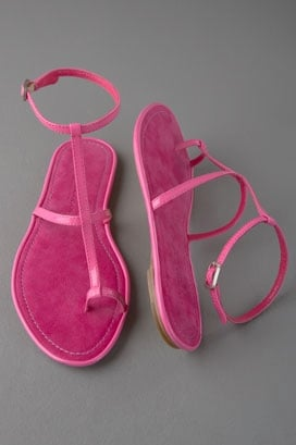 Donna Karan Collection Shoes Toe Ring Flat Sandal
