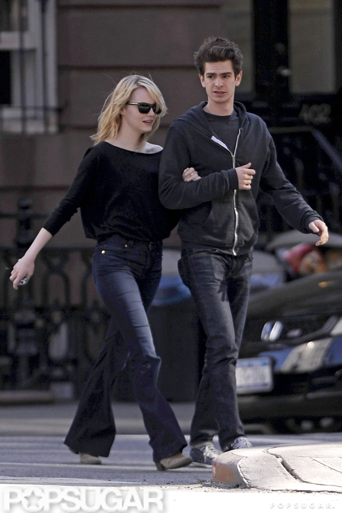 Emma Stone and Andrew Garfield took a walk around the West Village in NYC.