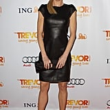 Julie Bowen stepped out in a slick leather sheath dress for the Trevor event.