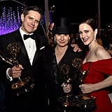 Pictured: Daniel Palladino, Amy Sherman-Palladino, and Rachel Brosnahan
