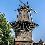 It's located right below an windmill! Now is that an authentic Amsterdam experience, or what?