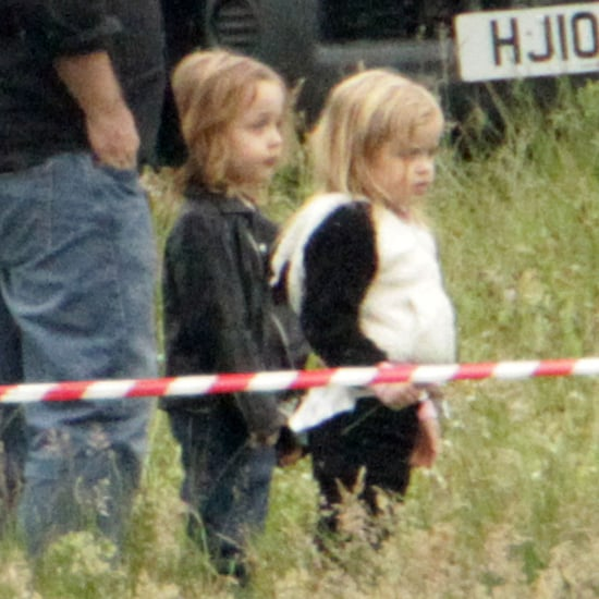 Angelina Jolie on Maleficent Set With Her Kids